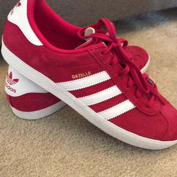 sale retailer fae78 7364c adidas Shoes - Adidas Ortholite Gazelles. Hot Pinkish Red.